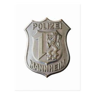 Polizei Mannheim Postcard