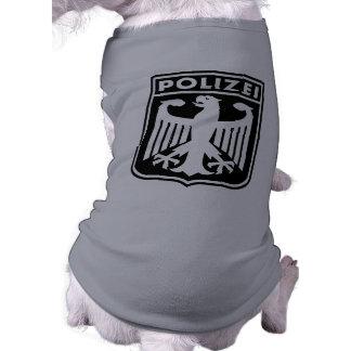Polizei Playera Sin Mangas Para Perro