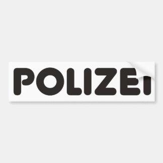 Polizei Products & Designs! Bumper Sticker