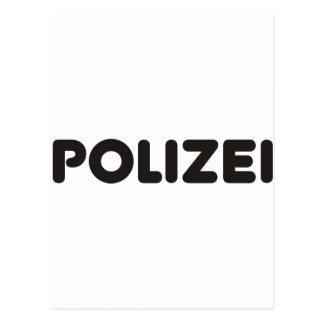 Polizei Products & Designs! Postcard