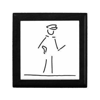 polizist polizei uniforme joyero cuadrado pequeño