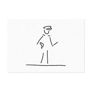 polizist polizei uniforme lona estirada galerías