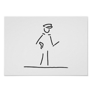 polizist polizei uniforme póster
