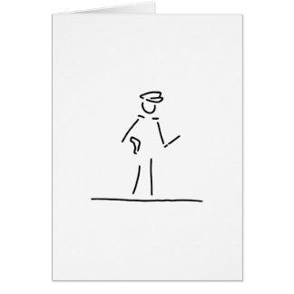 polizist polizei uniforme tarjeta de felicitación
