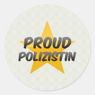 Polizistin orgulloso pegatina redonda