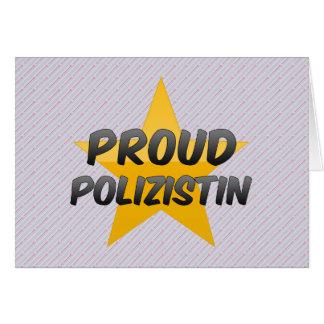 Polizistin orgulloso tarjeta de felicitación
