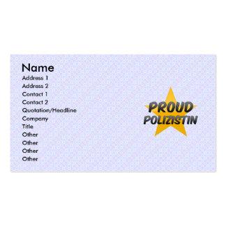 Polizistin orgulloso tarjetas de visita