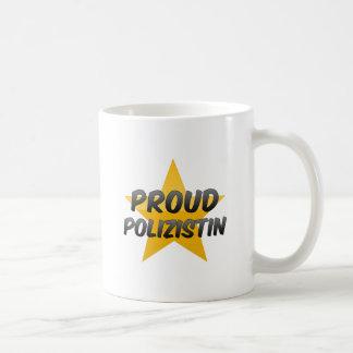 Polizistin orgulloso taza básica blanca