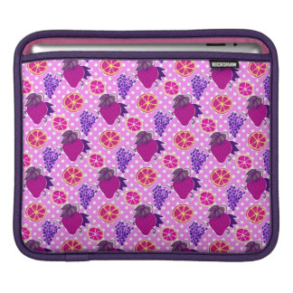 Polk-a-dots and Fruits - Pink Pattern Sleeves For iPads
