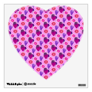 Polk-a-dots and Fruits - Pink Pattern Wall Decal