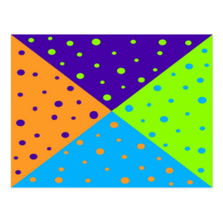 Polk a dots Postcard