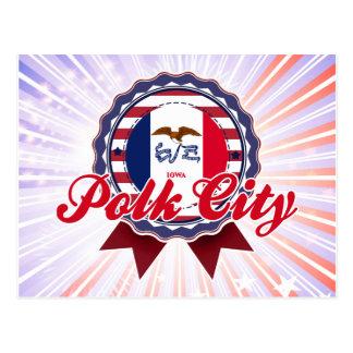 Polk City IA Postcard