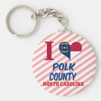 Polk County, North Carolina Key Chain