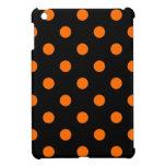 Polk-uno-puntos anaranjados negros