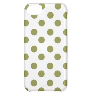 Polk-uno-puntos grandes verdes funda para iPhone 5C