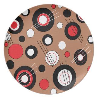 Polka Brown Dinner Plates