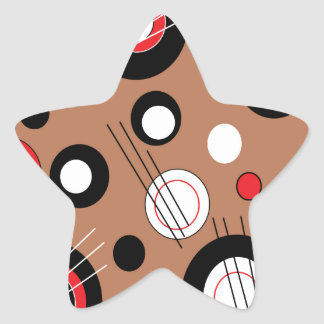 Polka Brown Star Sticker