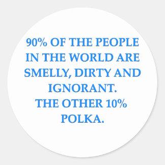 polka classic round sticker