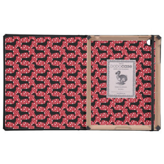 Polka Dachsund iPad Cases