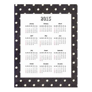 Polka Dot 2015 Calendar Postcard