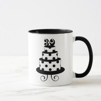 Polka Dot 30th Birthday Cake Mug