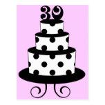 Polka Dot 30th Birthday Cake Postcard