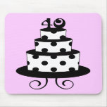 Polka Dot 40th Birthday Anniversary Cake Mousepads