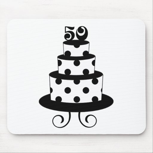 Polka Dot 50th Birthday Anniversary Mouse Pads