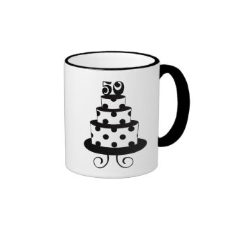Polka Dot 50th Birthday Anniversary Mugs