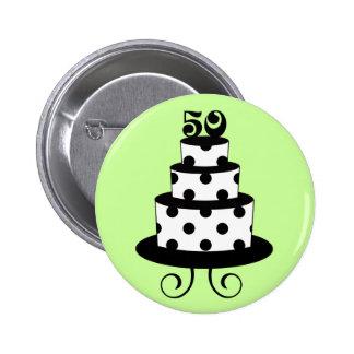 Polka Dot 50th Birthday Anniversary Pinback Button