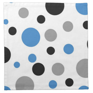 Polka Dot Abstract in Blue Cloth Napkin