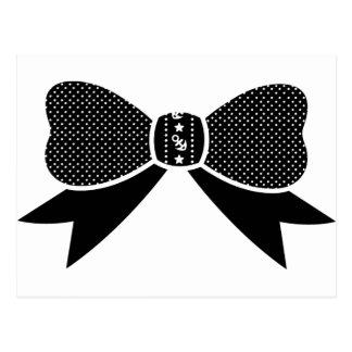 Polka Dot Anchor Star Bow Postcard