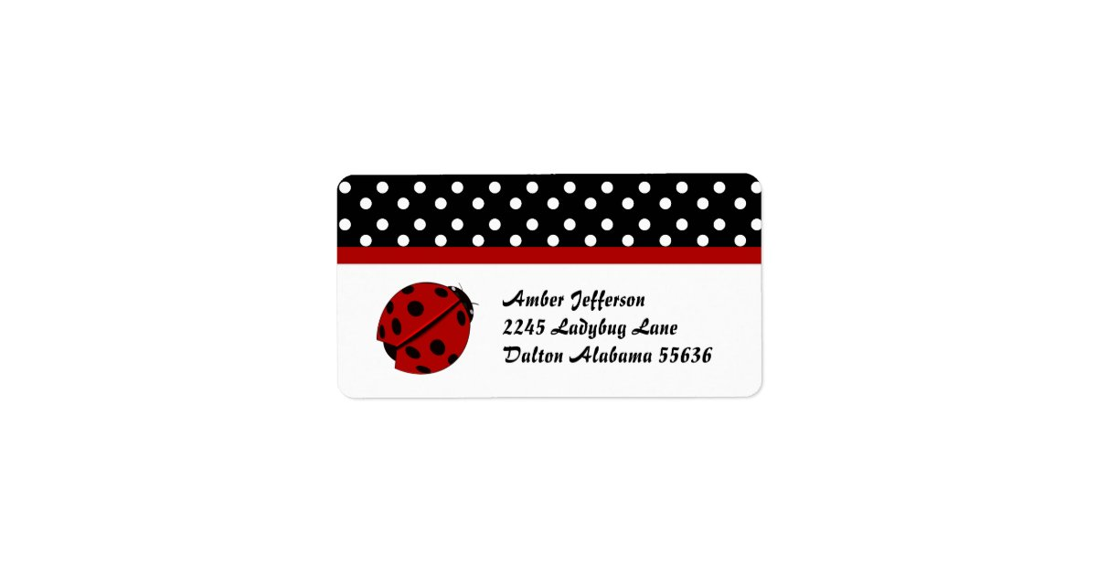 This is an image of Hilaire Polka Dot Mailing Labels