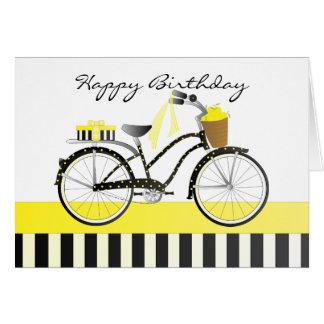 Polka Dot and Lemons Bicycle Card