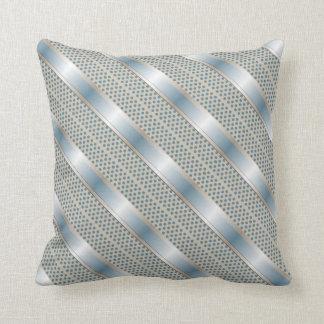 Polka Dot and Satin Ribbon Throw Pillow