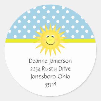 Polka Dot and Sunshine Address Stickers