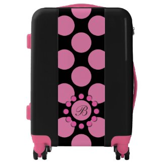 Polka Dot any Color with Monogram Pink Details
