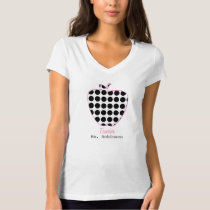 Polka Dot Apple Teacher T-Shirt