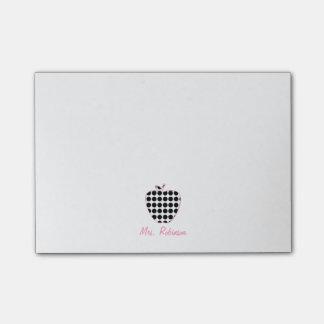 Polka Dot Apple Teacher Post-It Note