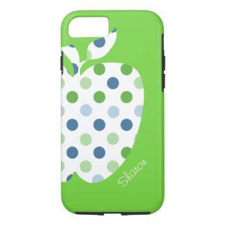 Polka Dot Apple Teacher's iPhone 7 case