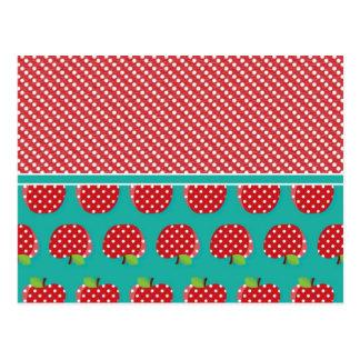 Polka Dot Apples Postcard