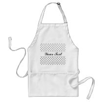 Polka dot apron for women | Personalizable design