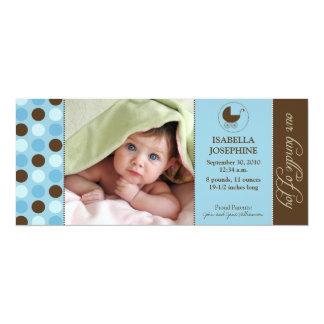 Polka Dot Baby Birth Announcement (blue)