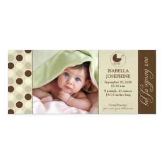 Polka Dot Baby Birth Announcement (chocolate)