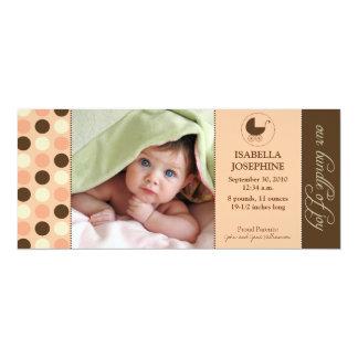Polka Dot Baby Birth Announcement (peach)