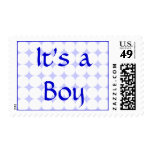 Polka Dot Baby Boy Postage Stamps