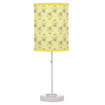 Polka Dot Baby Owl Nursery Theme | Yellow Table Lamp