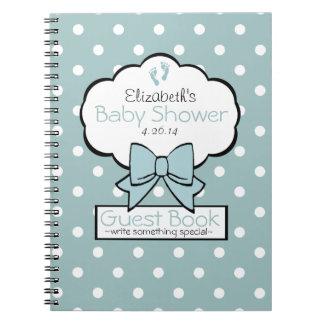 Polka Dot Baby Shower Guest Book- Spiral Notebook