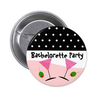 Polka Dot Bachelorette Party Pinback Button