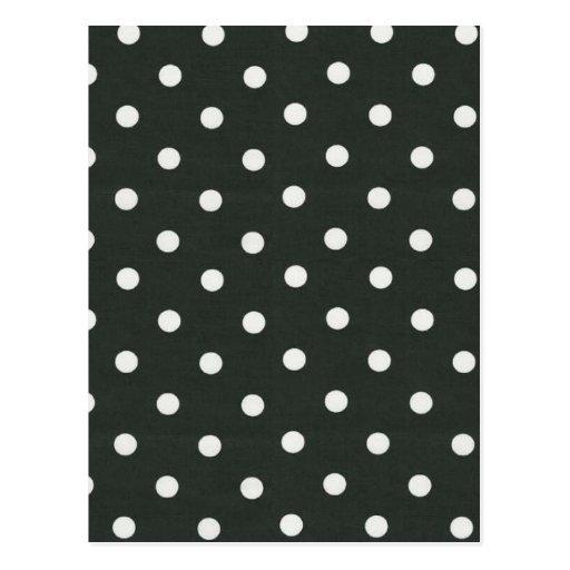 polka dot background postcard